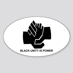 Black Unity is Power Oval Sticker