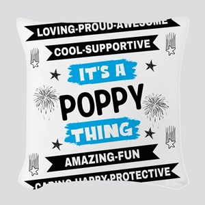 It's A Poppy Thing Woven Throw Pillow
