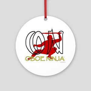 Oboe Ninja Ornament (Round)