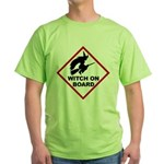 Witch on Board Green T-Shirt