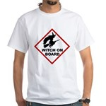 Witch on Board White T-Shirt