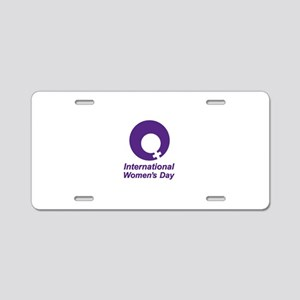 International Women's Day Aluminum License Plate