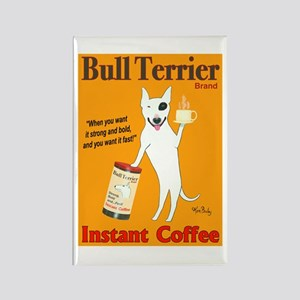 Bull Terrier Coffee Rectangle Magnet