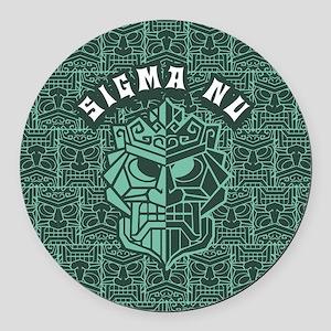 Sigma Nu Beach Round Car Magnet