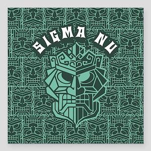 """Sigma Nu Beach Square Car Magnet 3"""" x 3"""""""