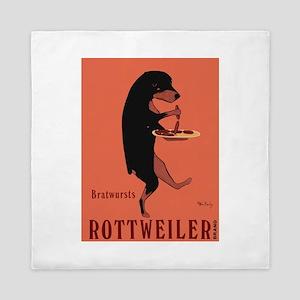Rottweiler Bratwursts Queen Duvet