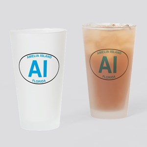 Amelia Island Florida Drinking Glass