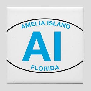 Amelia Island Florida Tile Coaster