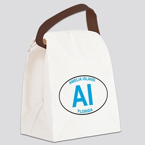 Amelia Island Florida Canvas Lunch Bag