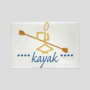 Kayak Rectangle Magnet
