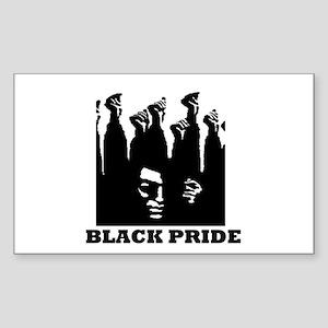 Black Pride Rectangle Sticker