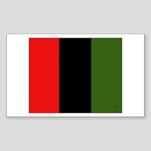 Red Black Green Rectangle Sticker