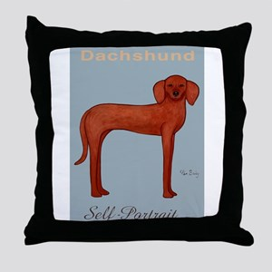 Dachshund Self-Portrait Throw Pillow