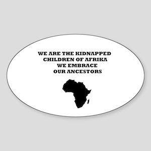 Kidnapped ChildrenOval Sticker