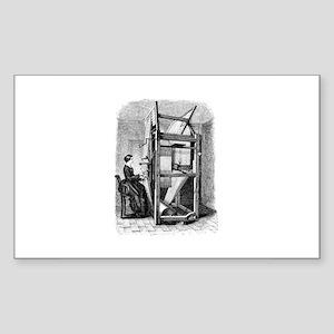 Weaver - Woman at Weaving Loo Sticker (Rectangular
