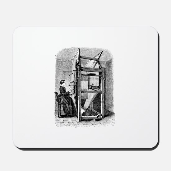 Weaver - Woman at Weaving Loo Mousepad
