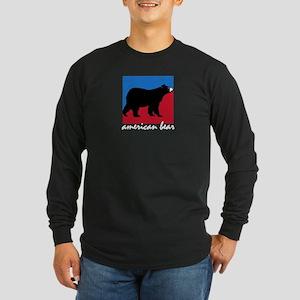 AMERICAN BEAR Long Sleeve Dark T-Shirt