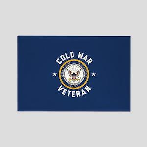 Navy Cold War Veteran Rectangle Magnet