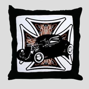 Motor City Cross  Throw Pillow