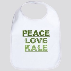 Peace Love Kale Baby Bib