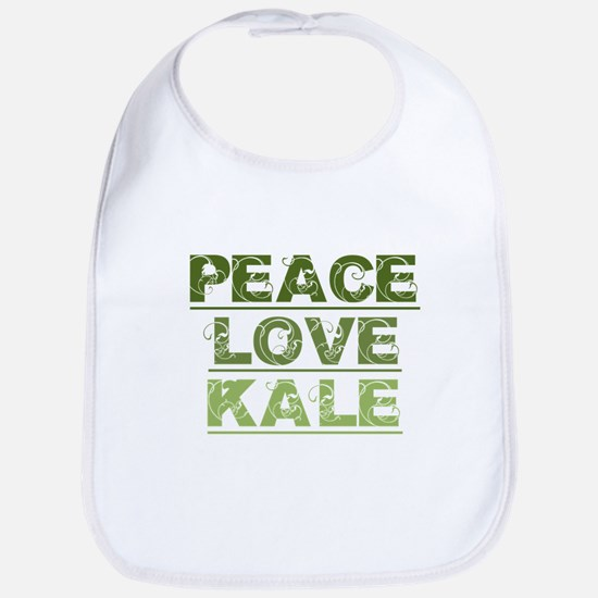 Peace Love Kale Baby Bib