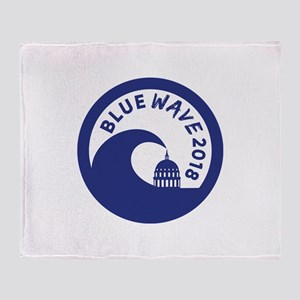 Blue Wave 2018 Midterm election Throw Blanket