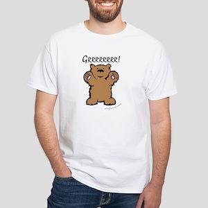 Grrrrrrrr! (Bear) White T-Shirt