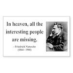 Nietzsche 8 Rectangle Sticker
