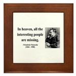Nietzsche 8 Framed Tile