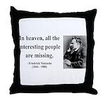 Nietzsche 8 Throw Pillow