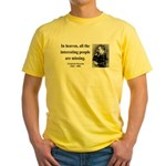 Nietzsche 8 Yellow T-Shirt