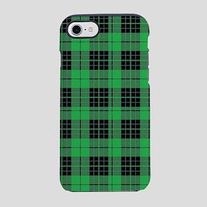 Green Plaid iPhone 8/7 Tough Case