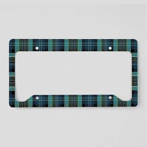 irish plaid License Plate Holder