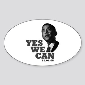 Yes We Can - Obama Oval Sticker