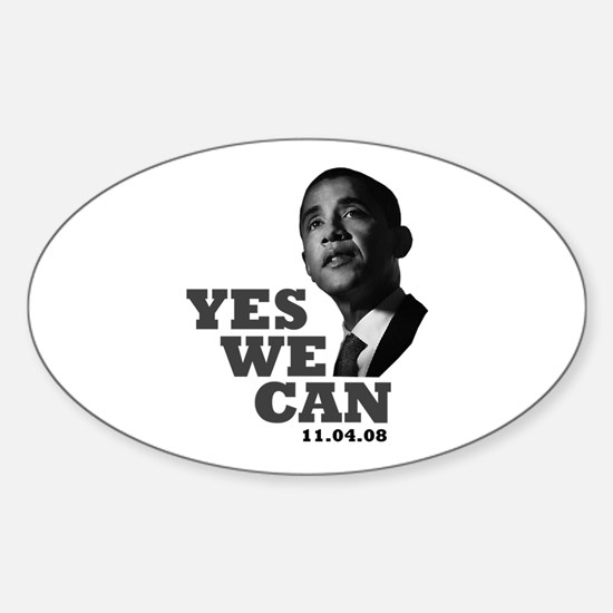 Yes We Can - Obama Oval Decal