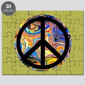 Abstract Peace-green Puzzle