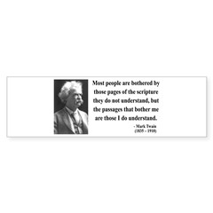 Mark Twain 21 Bumper Bumper Sticker