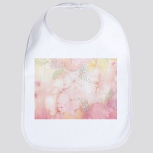 Watercolor Pink Floral Background Baby Bib