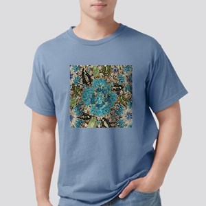 bohemian floral turquoise rhinestone T-Shirt