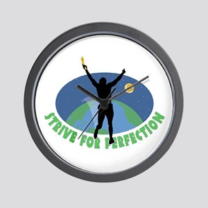 Strive for Perfection Wall Clock