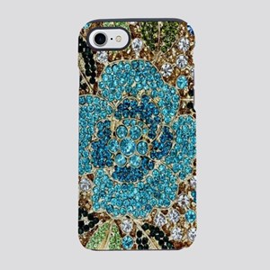 bohemian floral turquoise rh iPhone 8/7 Tough Case
