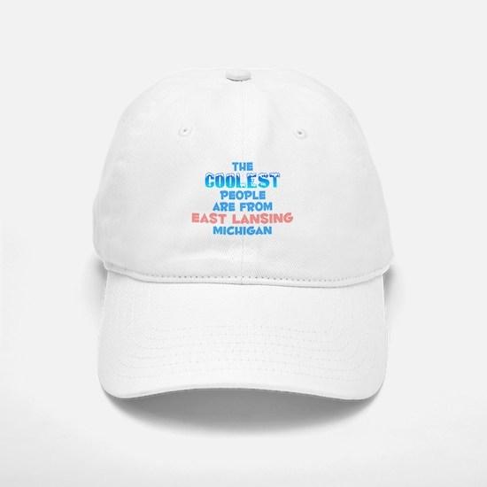 Coolest: East Lansing, MI Baseball Baseball Cap