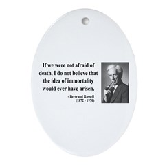 Bertrand Russell 5 Oval Ornament
