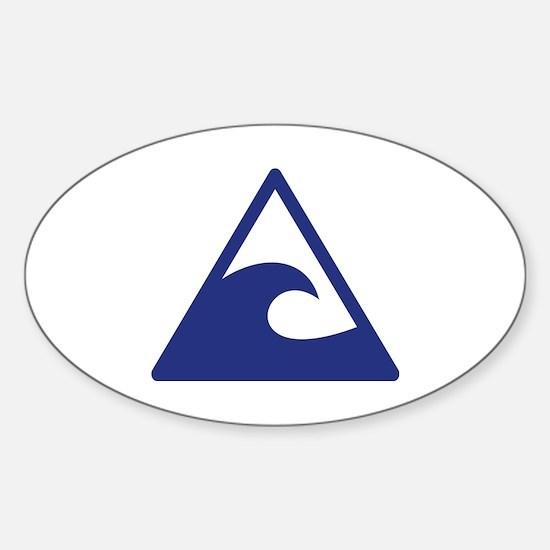 Cute Back flip Sticker (Oval)