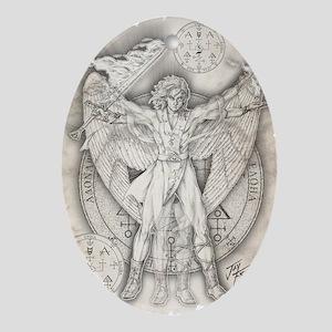 Archangel Uriel Oval Ornament