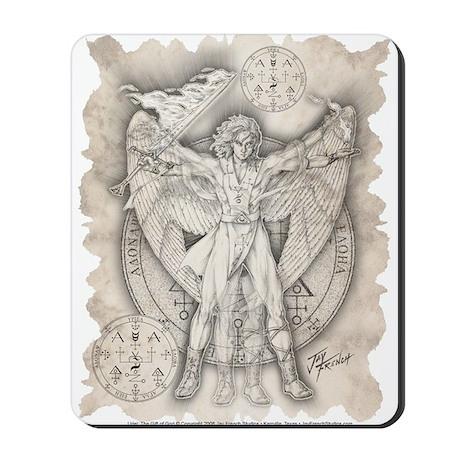 Archangel Uriel Mousepad