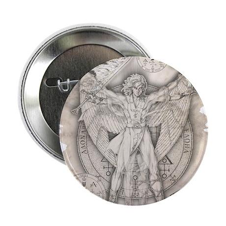"""Archangel Uriel 2.25"""" Button"""