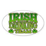 Irish Drinking Team Oval Sticker