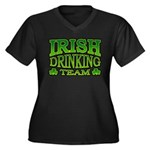 Irish Drinking Team Women's Plus Size V-Neck Dark