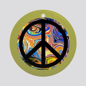 Abstract Peace-green Round Ornament